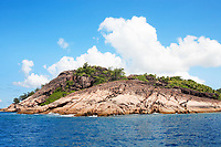 granite rocks of praslin in seychelles islands indian ocean