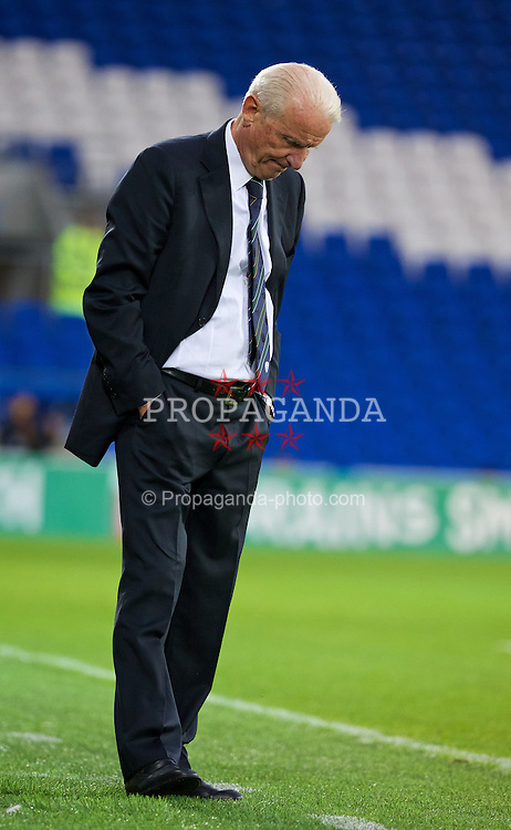 CARDIFF, WALES - Wednesday, August 14, 2013: Republic of Ireland's head coach Giovanni Trapattoni during an International Friendly against Wales at the Cardiff City Stadium. (Pic by David Rawcliffe/Propaganda)