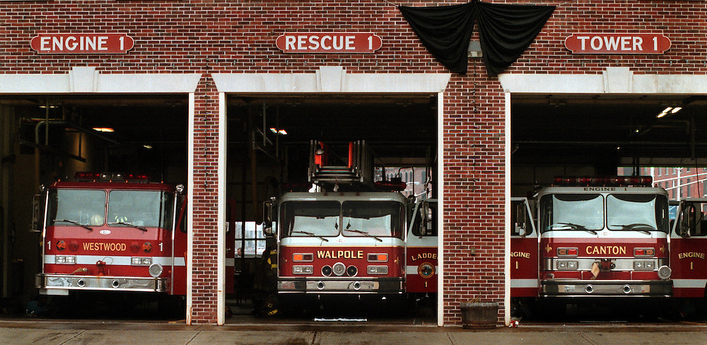 TGFIRE Trucks from Westwood, Walpole and Caanton fill the Central fire station in Worc. They and their crews are there to help the W.F.D. however they can, from working fires to clean apparatus. Shoot date 12/6/99