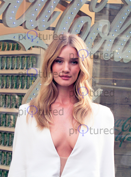 Rosie Huntington-Whitely Launches Coca-Cola Life, Coca Cola Life boutique, London UK, 19 September 2014, Photo by Mike Webster