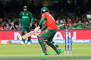 Wicket - Mushfiqur Rahim (wk) of Bangladesh is bowled by Wahab Riaz of Pakistan during the ICC Cricket World Cup 2019 match between Pakistan and Bangladesh at Lord's Cricket Ground, St John's Wood, United Kingdom on 5 July 2019.