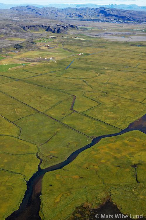 Þorleifslækur séð til norðurs, Ölfushreppur /.Thorleifslækur viewing north, Olfushreppur