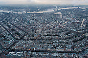 Nederland, Noord-Holland, Amsterdam, 16-01-2014;<br /> Overzicht Amsterdam grachtengordel, centrum, Noord en het IJ (boven in beeld). Rechts middenboven Oosterdokseiland.<br /> Overview Amsterdam: ring of canals, center, North and IJ (water, top picture).<br /> luchtfoto (toeslag op standard tarieven);<br /> aerial photo (additional fee required);<br /> copyright foto/photo Siebe Swart