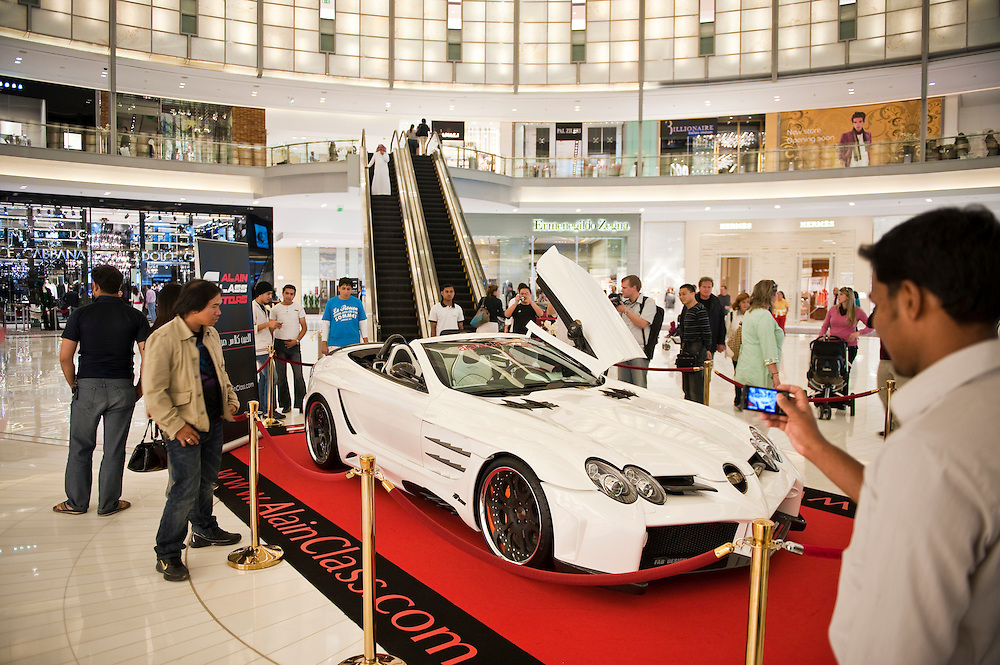 Cars on display at Dubai Mall, Dubai, UAE on Friday, February 12, 2010. Archive of images of Dubai by Dubai photographer Siddharth Siva