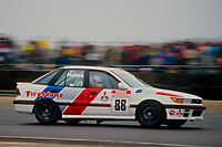 #88 Mark Hales John Maguire Racing Mitsubishi Lancer  during Round 1of the 1991 British Touring Car Championship at Silverstone, Towcester, Northamptonshire, United Kingdom. 1st April 1991, World Copyright Peter Taylor/PSP. Copy of publication required for printed pictures.