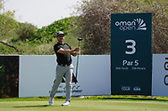 Mikko Korhonen (FIN) on the 3rd during Round 2 of the Oman Open 2020 at the Al Mouj Golf Club, Muscat, Oman . 28/02/2020<br /> Picture: Golffile | Thos Caffrey<br /> <br /> <br /> All photo usage must carry mandatory copyright credit (© Golffile | Thos Caffrey)