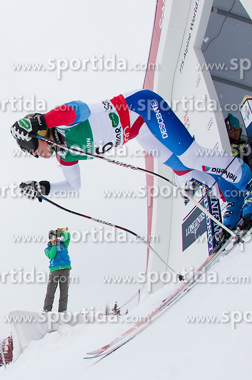 07.02.2013, Planai, Schladming, AUT, FIS Weltmeisterschaften Ski Alpin, 2. Training, Abfahrt, Damen, im Bild Lara Gut (SUI) // Lara Gut of Switzerland in action during 2nd practice of the ladies Downhill at the FIS Ski World Championships 2013 at the Planai Course, Schladming, Austria on 2013/02/07. EXPA Pictures © 2013, PhotoCredit: EXPA/ Johann Groder
