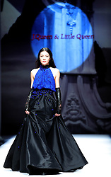 A model presents fashion creations designed by Xie Jiaqi during a fashion show titled J.Queen and Little Queen at China Fashion Week in Beijing, capital of China, March 30, 2016. EXPA Pictures © 2016, PhotoCredit: EXPA/ Photoshot/ Chen Jianli<br /> <br /> *****ATTENTION - for AUT, SLO, CRO, SRB, BIH, MAZ, SUI only*****