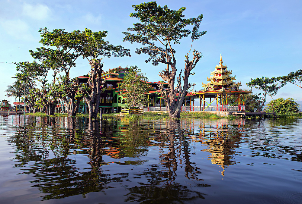 A temple on Lake Inle, Myanmar.