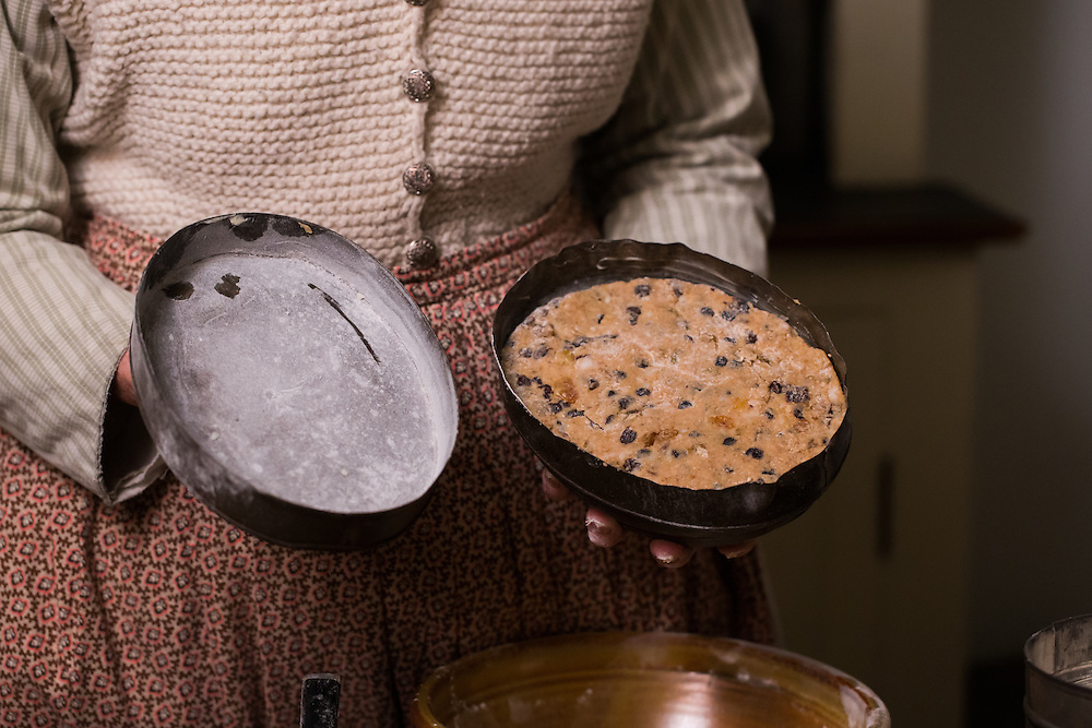 Food prepared for Holiday Nights at Greenfield Village