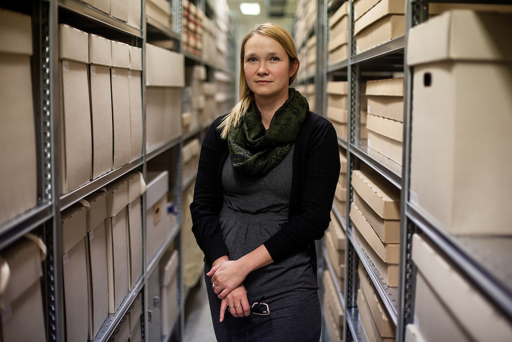 "Agnieszka Sieradzka, an employee working since almost 10 years for the collection department of the Auschwitz memorial in one of the archives with personal belongings of the prisoners which were taken away by the Nazis or found later at the camp. Mrs. Sieradzka said about her work ""We have to do our job professional and we have to keep an emotional distance to our work and this place.  I could not switch of these emotions in the beginning at all. I am working with the art of the prisoners what was a symbol of hope for them. I wanted to work here and to pass those informations further for future generations."""