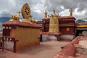 The roof of the Jokhang Temple in Lhasa.