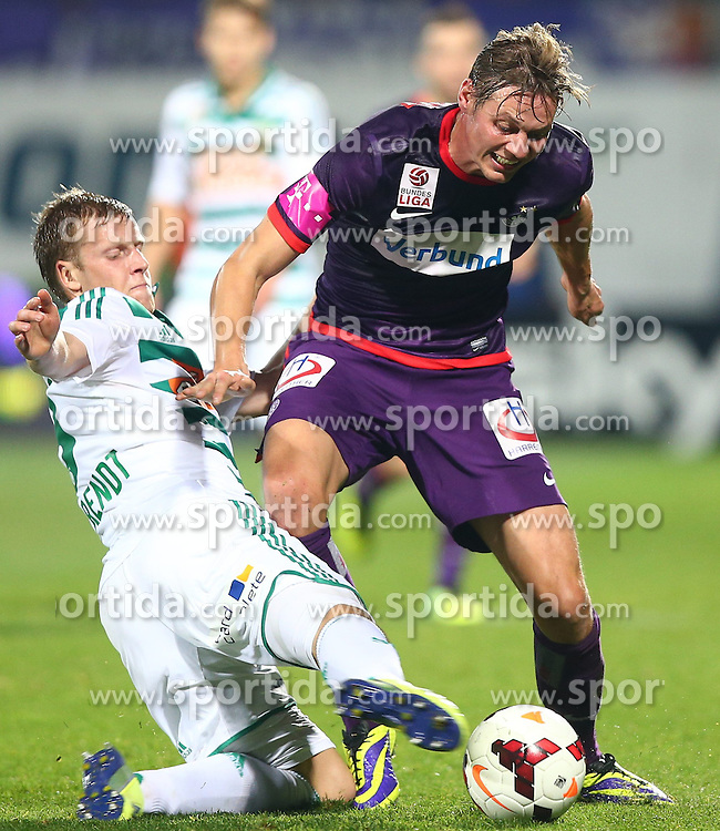 27.10.2013, Generali Arena, Wien, AUT, 1. FBL, FK Austria Wien vs SK Rapid Wien, 13. Runde, im Bild Brian Behrendt, (SK Rapid Wien, #3) und Roman Kienast, (FK Austria Wien, #24) // during Austrian Bundesliga Football 13th round match, between FK Austria Vienna and SK Rapid Wien at the Generali Arena, Wien, Austria on 2013/10/27. EXPA Pictures © 2013, PhotoCredit: EXPA/ Thomas Haumer