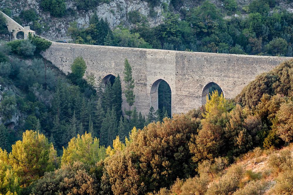 12 SEP 2015 - Spoleto (PG) - Il Ponte delle Torri, acquedotto romano.