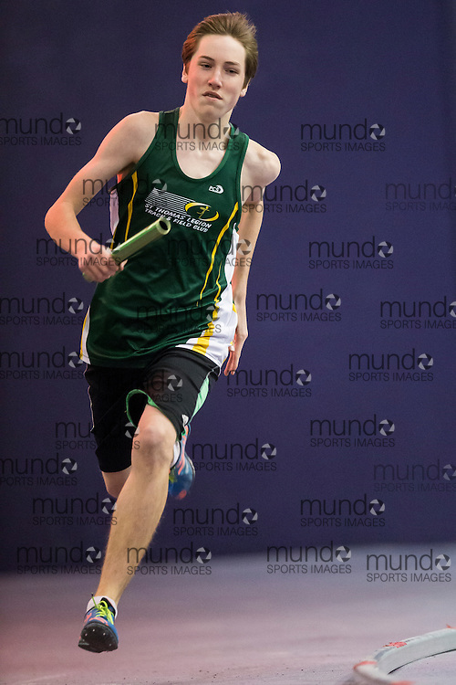 Tanner Smyth of St. Thomas Legion TFC competes at the STL-LW All Comers Meet # 2 in London, Ontario, Saturday, January 24, 2015.<br /> Mundo Sport Images/ Geoff Robins
