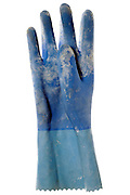 used heavy duty rubber kitchen glove