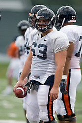 Virginia Cavaliers C Jordy Lipsey (63)..The Virginia Cavaliers football team held their first open practice of the 2007 season on the practice fields next to the University of Virginia's McCue Center in Charlottesville, VA on August 10, 2007.
