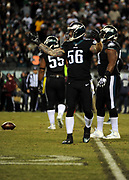 Dec 25, 2017; Philadelphia, PA, USA; Philadelphia Eagles defensive end Jake Long (56) during a NFL football game at Lincoln Financial Field. The Eagles defeated the Raiders 19-10. Photo by Reuben Canales