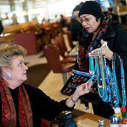 Selcido Charlee sells her jewelry at Earl's Restaurant.