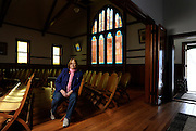 Author and local historian Pauli Smith poses for a portrait inside the sanctuary Friday, Feb. 10, 2012 at Highland Lake Church in Mead..(Matthew Jonas/Times-Call)