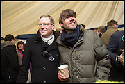 ED GRANT; ALEX JAMES, The Heythrop Hunt Point to Point. Cockle barrow. 25 January 2015