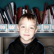 Evan Estes. Casey Brennan's kindergarten class at Hopkins Elementary School in Sherwood on Wednesday, May 23, 2012.