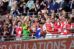 Arsenal celebrate winning the FA Cup against Chelsea  - Mandatory by-line: Dougie Allward/JMP - 27/05/2017 - FOOTBALL - Wembley Stadium - London, England - Arsenal v Chelsea - Emirates FA Cup Final