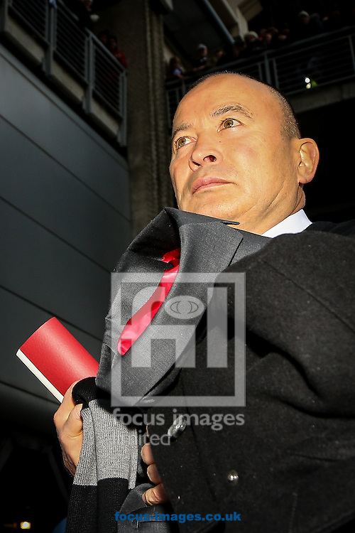 England head coach Eddie Jones during the RBS 6 Nations match at Murrayfield Stadium, Edinburgh<br /> Picture by Andy Kearns/Focus Images Ltd 0781 864 4264<br /> 06/02/2016