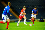 Accrington Stanley's Shay McCartan during the The FA Cup match between Portsmouth and Accrington Stanley at Fratton Park, Portsmouth, England on 5 December 2015. Photo by Graham Hunt.