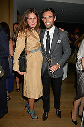 MARK-FRANCIS VANDELLI and FIAMMETTA EGALINI at She Inspires Art in aid of Women for Women International's work, held at Bonham's, 101 New Bond Street, London on 16th September 2015.