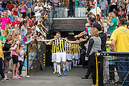 ARNHEM PAPENDAL, eerste training Vitesse, voetbal, seizoen 2015-2016, 28-06-2015, trainingscomplex Vitesse Papendal, opkomst spelers, Vitesse speler Guram Kashia (M).