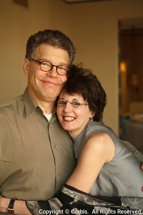 2006, Miami Beach, Florida, USA --- Al Franken and Franni Bryson --- Image by © Owen Franken/Corbis