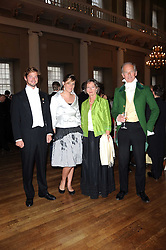 Left to right, COUNT DIMITRI TOLSTOY-MILOSLAVSKY, EMILY GARNETT and COUNT & COUNTESS NIKOLAI TOLSTOY-MILOSLAVSKY at the 13th annual Russian Summer Ball held at the Banqueting House, Whitehall, London on 14th June 2008.<br />