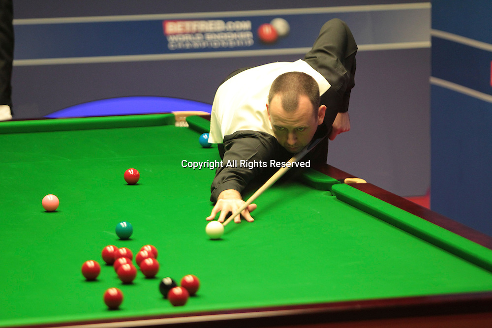 25.04.2012, Sheffield, England. Mark Williams in action during the World Snooker Championship from the Crucible Theatre.
