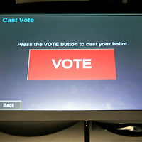 Electronic Voting Ballot, Washington DC, USA