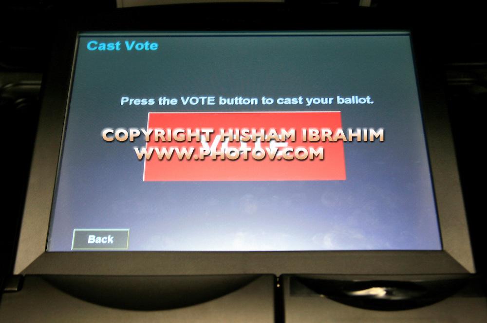 Electronic Voting Ballot, Washington DC, USA