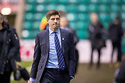 Rangers manager Steven Gerrard arrives at the stadium before the Ladbrokes Scottish Premiership match between Hibernian and Rangers at Easter Road, Edinburgh, Scotland on 19 December 2018.