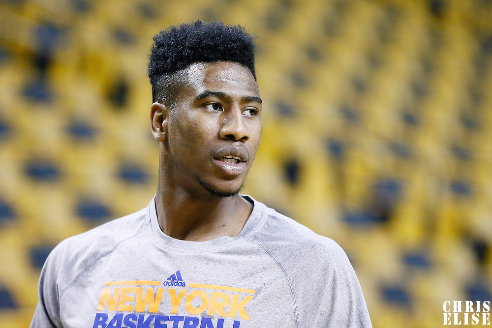 24 January 2013: New York Knicks point guard Iman Shumpert (21) warms up prior to the New York Knicks 89-86 victory over the  at the TD Garden, Boston, Massachusetts, USA.