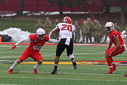 NORMAL, IL - November 17: Austin Nagel during a college football game between the ISU (Illinois State University) Redbirds and the Youngstown State Penguins on November 17 2018 at Hancock Stadium in Normal, IL. (Photo by Alan Look)