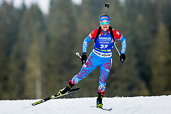 Ekaterina Yurlova-Percht (RUS) during Women 15km Individual at day 5 of IBU Biathlon World Cup 2018/19 Pokljuka, on December 6, 2018 in Rudno polje, Pokljuka, Pokljuka, Slovenia. Photo by Ziga Zupan / Sportida