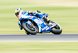 October 21, 2017 - Melbourne, Victoria, Australia - Spanish rider Axel Rins (#42) of Team SUZUKI ECSTAR in action during the first qualifying practice session at the 2017 Australian MotoGP at Phillip Island, Australia. (Credit Image: © Theo Karanikos via ZUMA Wire)