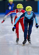 Marta Wullert competes in speed skating 1500 meters race final while during 2013 Special Olympics World Winter Games PyeongChang at Gangneung Ice Rink on February 1, 2013...South Korea, PyeongChang, February 1, 2013..Picture also available in RAW (NEF) or TIFF format on special request...For editorial use only. Any commercial or promotional use requires permission...Photo by © Adam Nurkiewicz / Mediasport