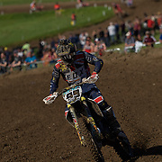 """Max Anstie showing beautiful form. In the press conference the British rider told listeners that everyone was asking him, leading up to the weekend, whether he'd be able to repeat his performance at last year's MXdN where he swept both MXGP motos. """"It's hard"""", he said, """"I set the bar pretty high"""". Max had a concussion a few rounds ago and has been working his way back up to speed. He is not at race winning speed yet, but he looked much better last weekend."""