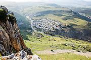 Israel, Lower Galilee, Arbel mountain,