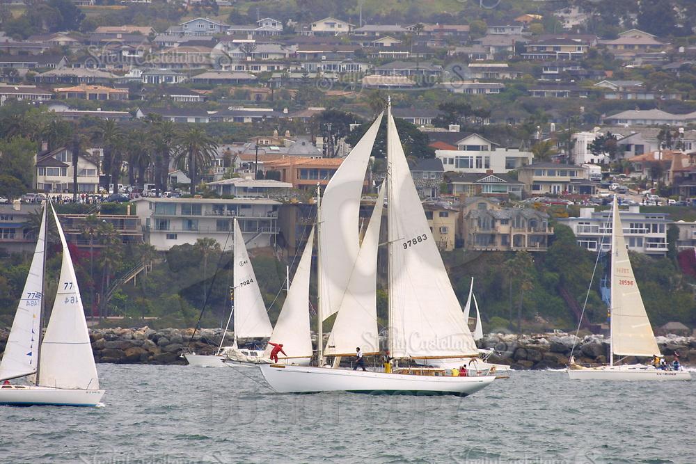 Apr 26, 2002; Newport Beach, California, USA; 'Samarang' at the start of the 55th annual 125 mile Newport to Ensenada Yacht Race.<br />Mandatory Credit: Photo by Shelly Castellano/ZUMA PRESS.<br />(&copy;) Copyright 2002 by Shelly Castellano