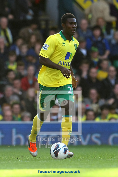 Picture by Paul Chesterton/Focus Images Ltd +44 7904 640267.29/09/2012.Alexander Tettey of Norwich in action during the Barclays Premier League match at Carrow Road, Norwich.