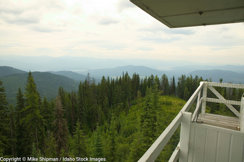 Indian Mountain Lookout, US Forest Service, Kaniksu National Forest, Bonner County, Idaho, USA