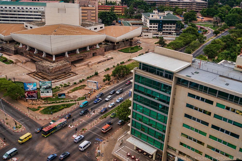 National Theatre (left) & Accra Financial Centre
