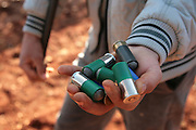 Selfmade bullets of the defenders of Kureen. On 22. February the syrian army attacked the village of Kureen, Province of Idlib, Syria. Kureen was among the first villages in the northwest of Syria controlled by the opposition. Some villagers and members of the defence units escaped to surrounding olive orchards, when the attack begun in the early morning. A majority of the inhabitants didn´t manage to escape. The heavy shelling lasts 7 houres. Soldiers searched all houses, burnt some of them down, loote shops, stole cars and furniture. About 60 motorcycles were burnt down. Tanks demolished several houses. 6 men were executed. One woman died as a result of an heart attack.