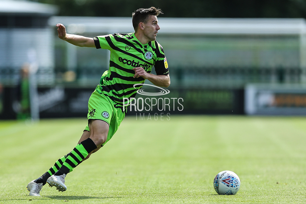 Forest Green Rovers Kevin Dawson(18) on the ball during the EFL Sky Bet League 2 match between Forest Green Rovers and Grimsby Town FC at the New Lawn, Forest Green, United Kingdom on 17 August 2019.